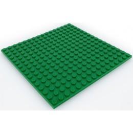 Двусторонняя строительная пластина 16x16 см зеленая