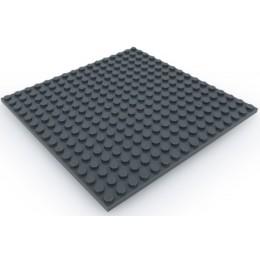 Двусторонняя строительная пластина 16x16 см темно-серая