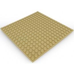 Двусторонняя строительная пластина 16x16 см бежевая