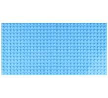 Двусторонняя строительная пластина 12.5x25 см светло-синяя (2 шт.)