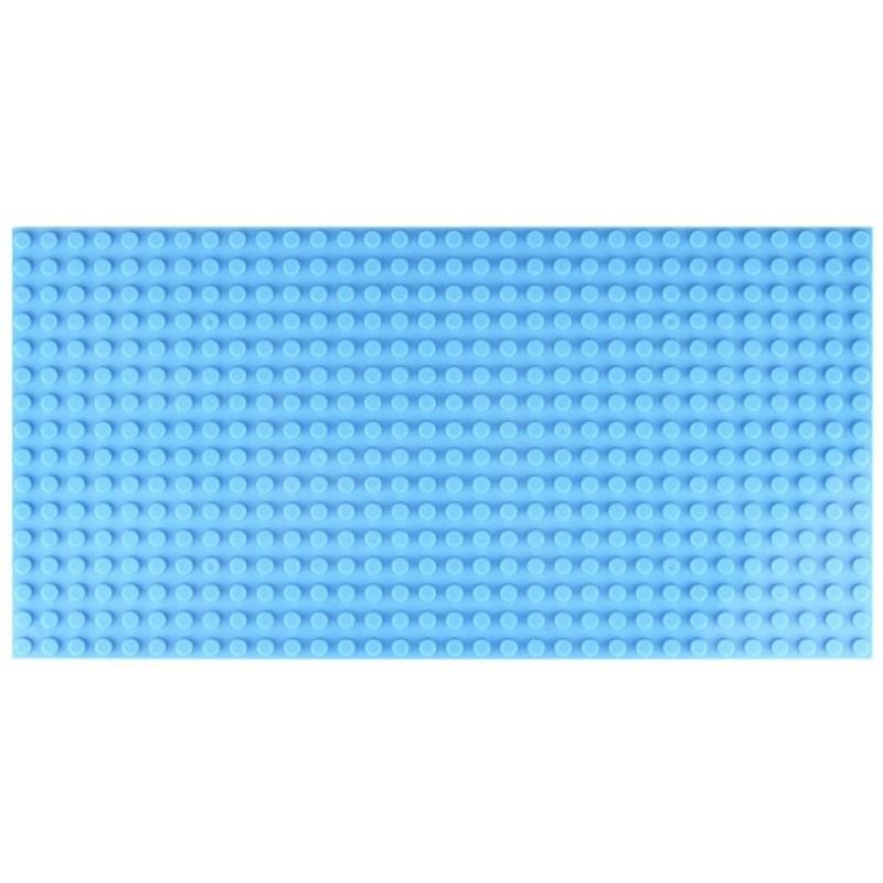 Двусторонняя строительная пластина 12.5x25 см светло-синяя(2 шт.)