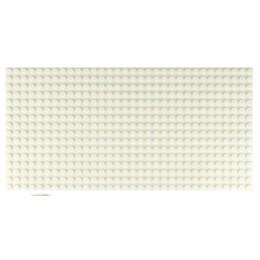 Двусторонняя строительная пластина 12.5x25 см белая (2 шт.)