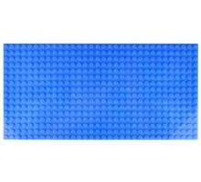 Двусторонняя строительная пластина 12.5x25 см синяя (2 шт.)