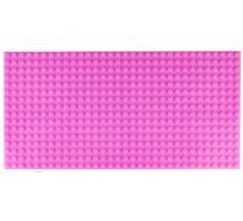 Двусторонняя строительная пластина 12.5x25 см розовая (2 шт.)