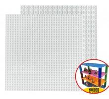 Двусторонняя строительная пластина 25x25 см белая