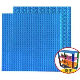 Двусторонняя строительная пластина 25x25 см синяя
