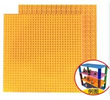 Двусторонняя строительная пластина 25x25 см оранжевая