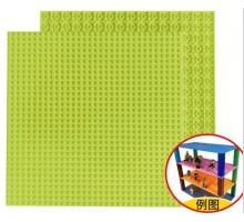 Двусторонняя строительная пластина 25x25 см светло-зеленая