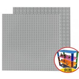 Двусторонняя строительная пластина 25x25 см светло-серая