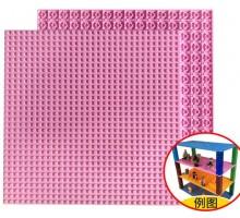 Двусторонняя строительная пластина 25x25 см розовая