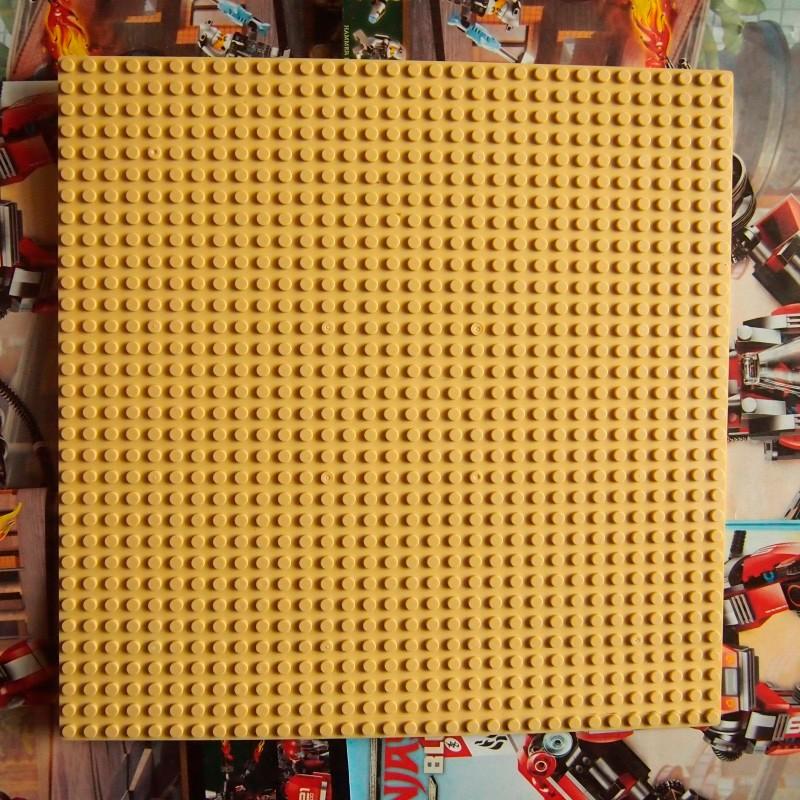 Пластина для конструктора 25x25 см - Желтая
