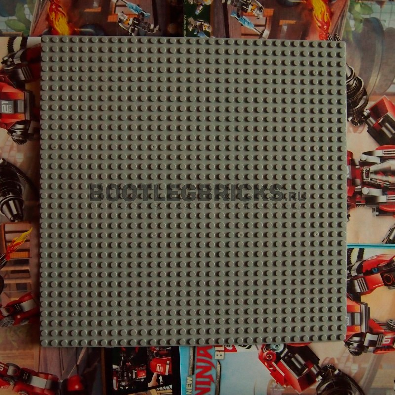 Пластина для конструктора 25x25 см - темно-серая