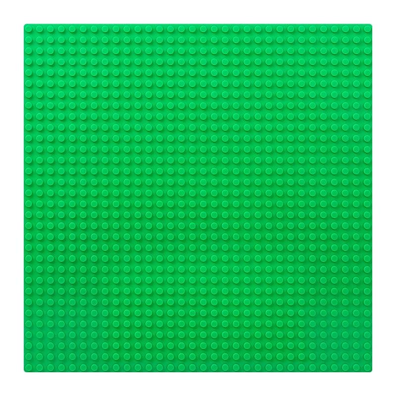 Пластина для конструктора 25х25 см - Зеленая