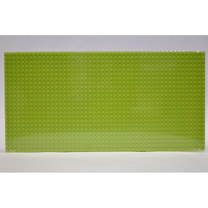 Пластина для конструктора  19x38 см - светло-зеленая