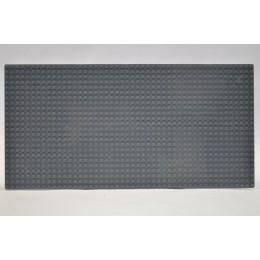 Строительная пластина 19x38 см темно-серая