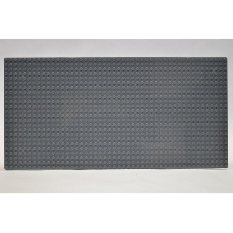 Пластина для конструктора 19x38 см - темно-серая