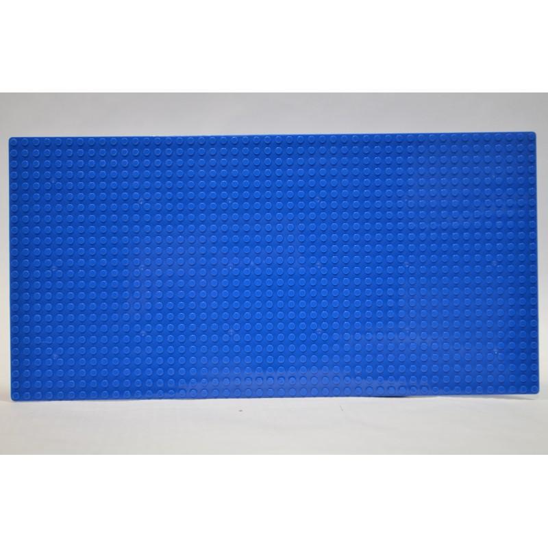 Пластина для конструктора  19х38 см - Синяя