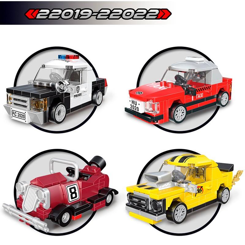 22019-22022 Decool Набор из 4 мини-гоночных машин
