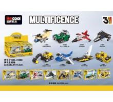 31001-31008 Decool Мини-наборы транспортных средств 8 в 1 (24 в 1)