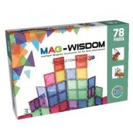 Mag-Wisdom KBM-78 магнитный конструктор 78 деталей