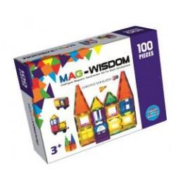 Mag-Wisdom KBM-100 магнитный конструктор 100 деталей