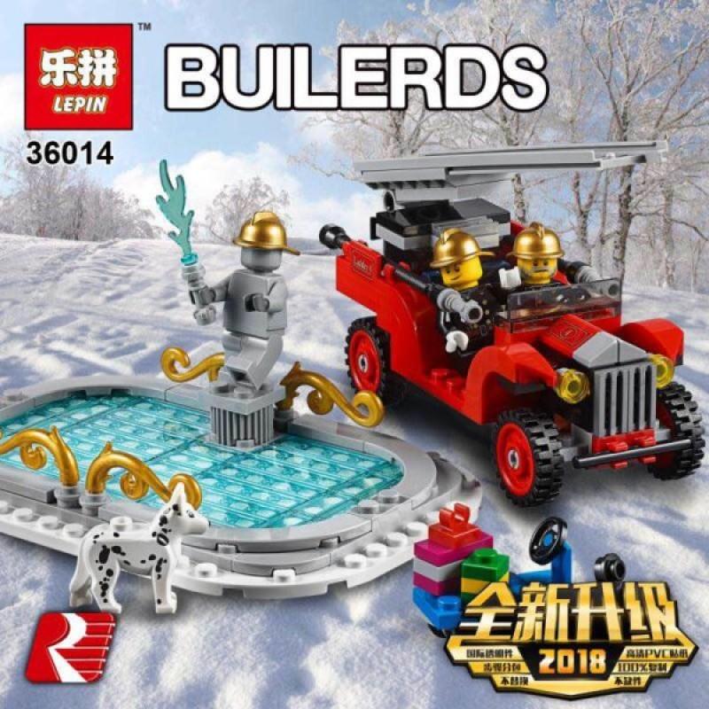 36014 Lepin Пожарная часть в зимней деревне