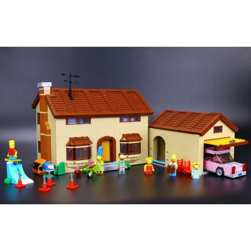 16005 Lepin Дом Симпсонов - аналог Лего