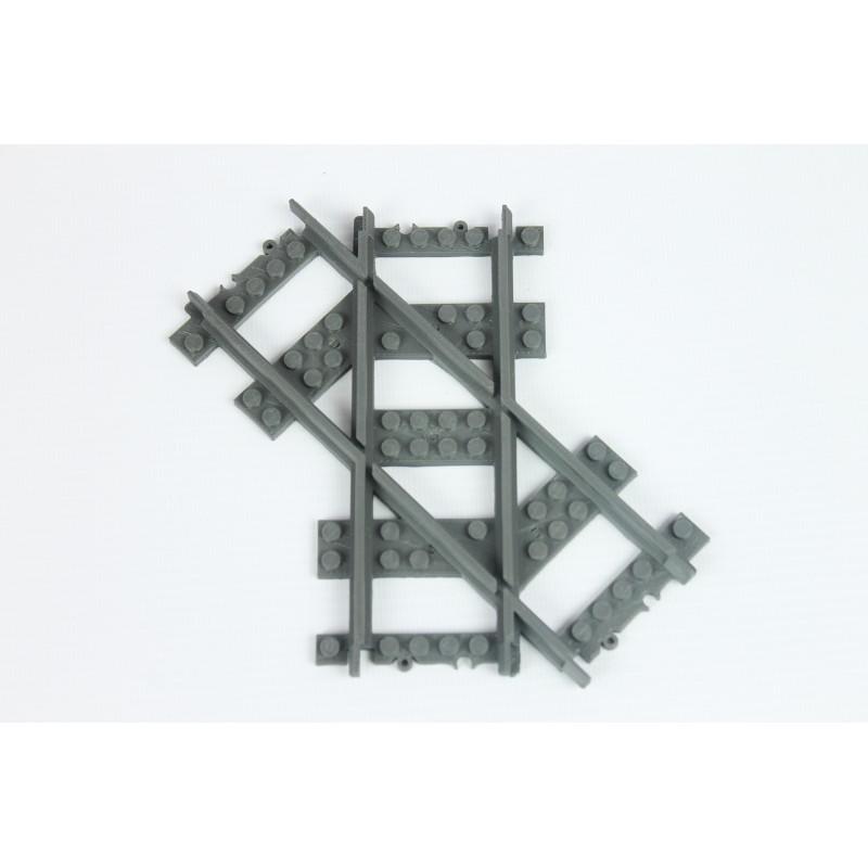 98215-7L Рельсы Железнодорожные - пересечение путей под углом 45 градусов (левые)
