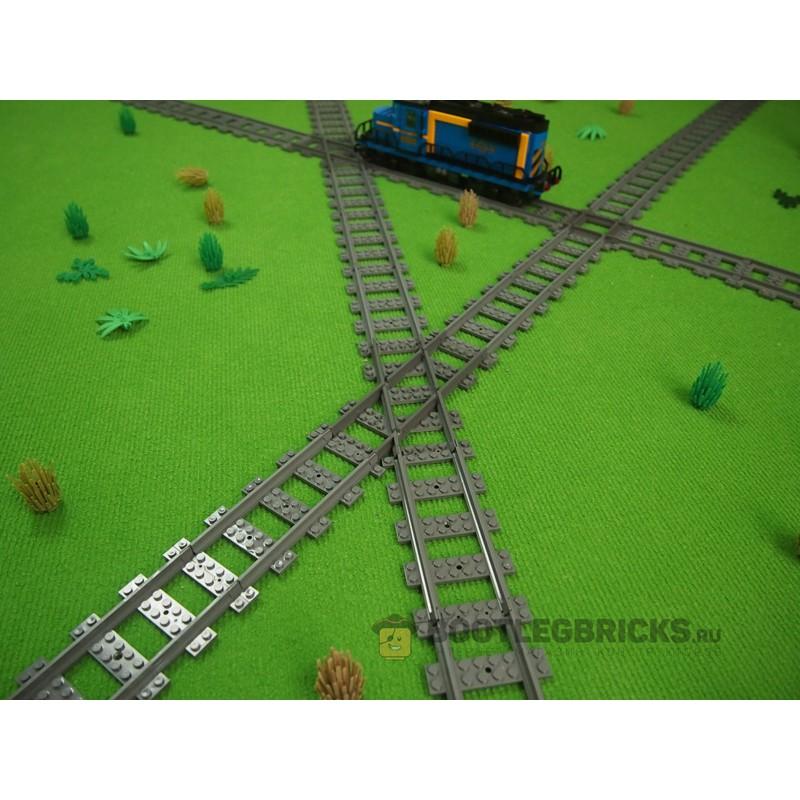 98215-7R Рельсы Железнодорожные - пересечение путей под углом 45 градусов (правые)