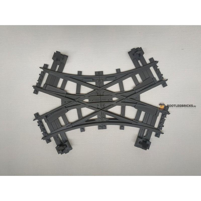 Конструктор Рельсы 98215-2CRCL - ЖД перекресток на два круга