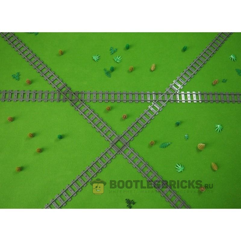 Конструктор Рельсы 98215-5 Рельсы Железнодорожные - пересечение путей