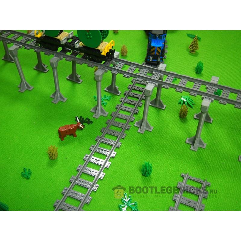 98215-M8-DUO Железнодорожные высокие опоры - (8 опор, 24 элемента)