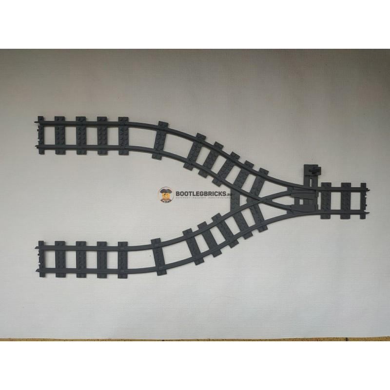 Конструктор Рельсы 98215-STR2 Рельсы ЖД - двойной стрелочный перевод