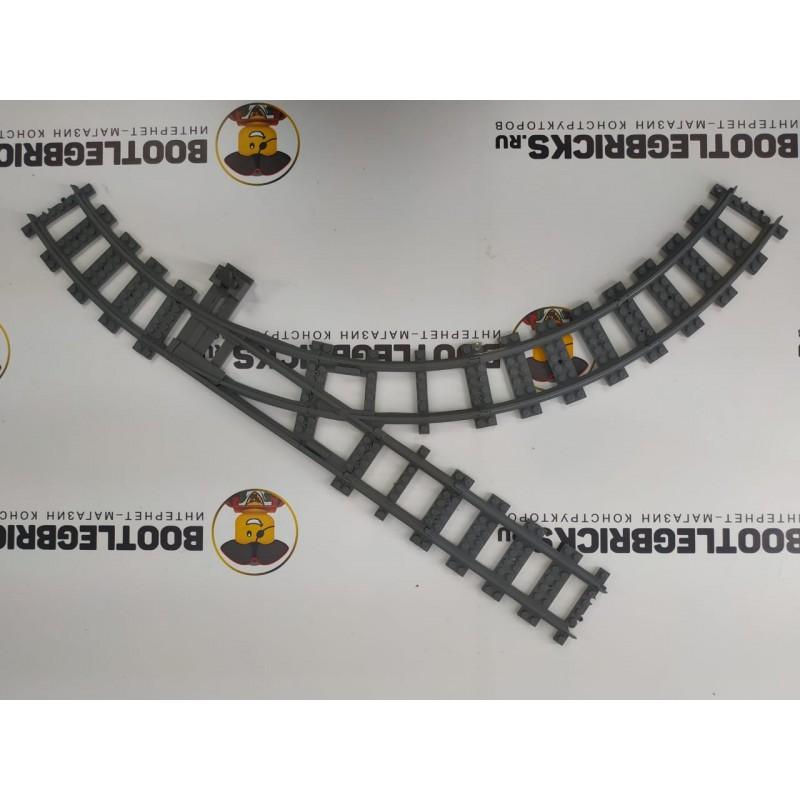 Конструктор Рельсы 98215-STR32L Рельсы ЖД - стрелка, пересечение прямой и круга R320
