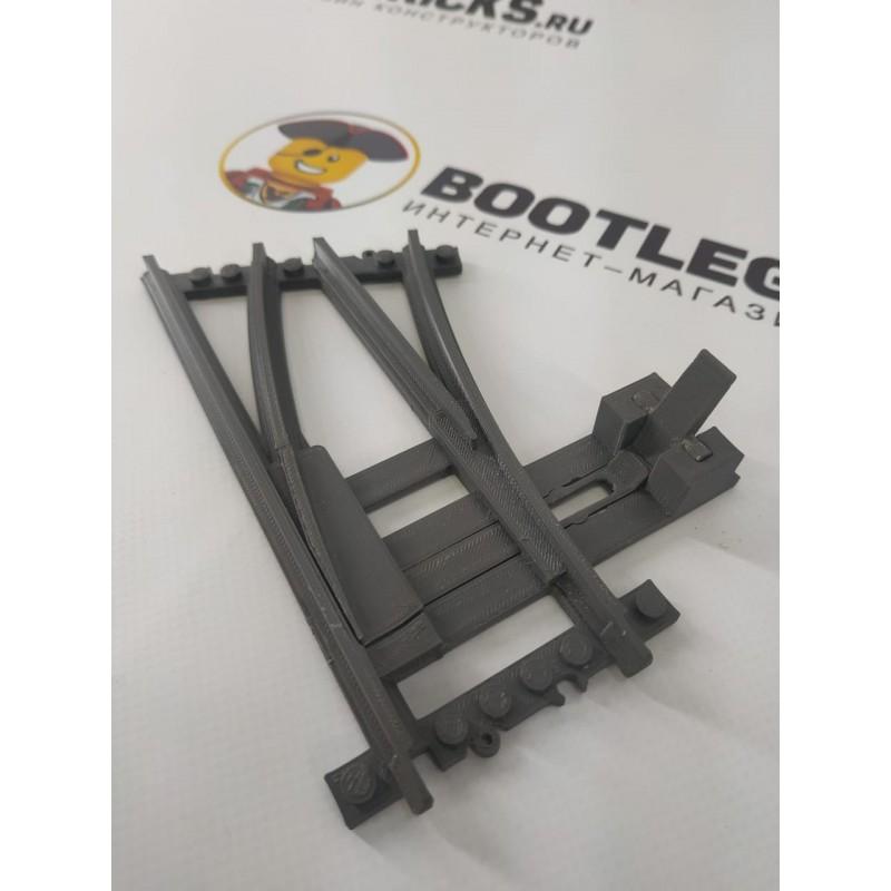 Конструктор Рельсы 98215-STR32R v2.1 3в1 Рельсы ЖД - стрелка, пересечение прямой и круга R320