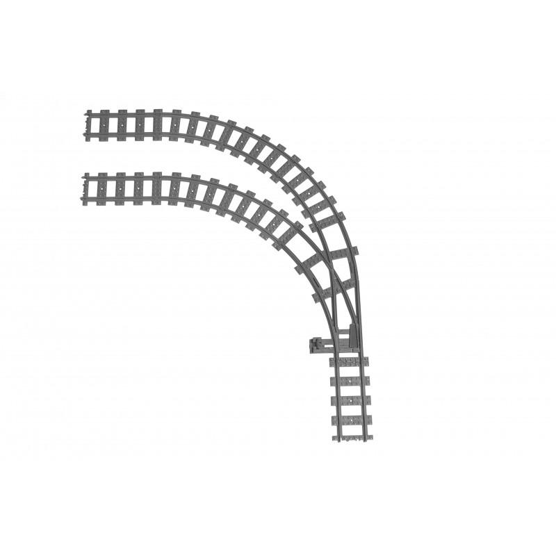 Конструктор Рельсы 98215-STR90L Рельсы ЖД - двойной стрелочный перевод налево на 90°