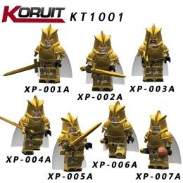 KT1001 Koruit Игра Престолов: набор минифигурок Золотые плащи - 7 шт.