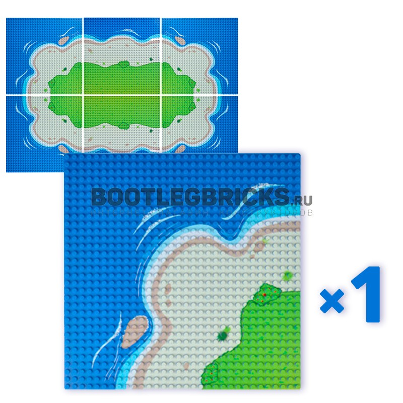 0001bb LEPIN Пластина (остров, угловая часть)