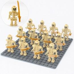 AX2 LOJO Минифигурки желтых скелетов - 12 шт.