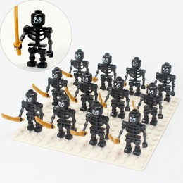 AX3 LOJO 12 минифигурок черных скелетов