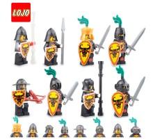 AX9807 LOJO Набор 8 минифигурок рыцарей