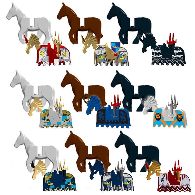 AX9822-1 LOJO Набор из 9 минифигурок лошадей и попон