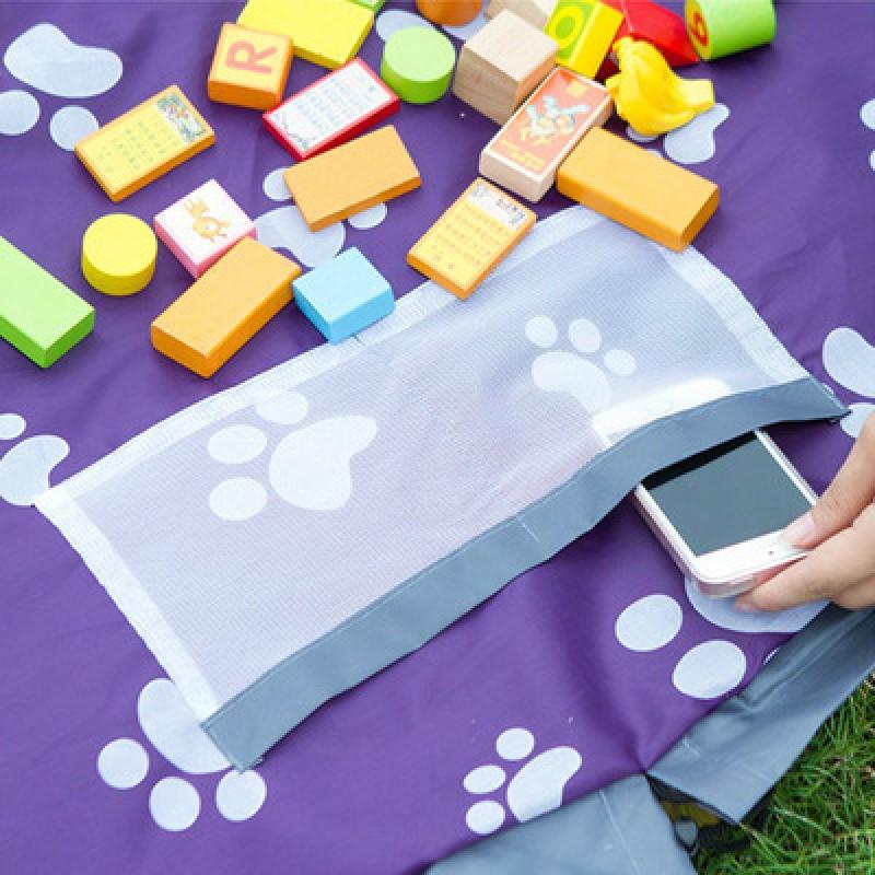 Коврик-мешок для игры в Лего 150 см (синий)