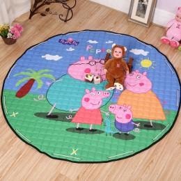 """Коврик-мешок для игры в 150 см """"Свинка и ее семья"""""""