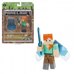 "Фигурка ""Алекс с крыльями"" Alex with Elytra Wings Minecraft (Jazwares оригинал)"