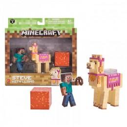 "Фигурка ""Стив с Ламой"" Steve with Llama Minecraft (Jazwares оригинал)"