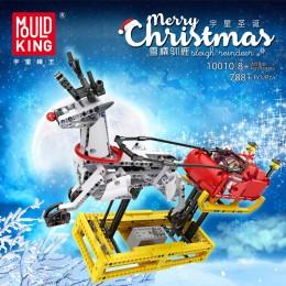 10010 MOULD KING Рождественские сани Санта-Клауса с моторизацией
