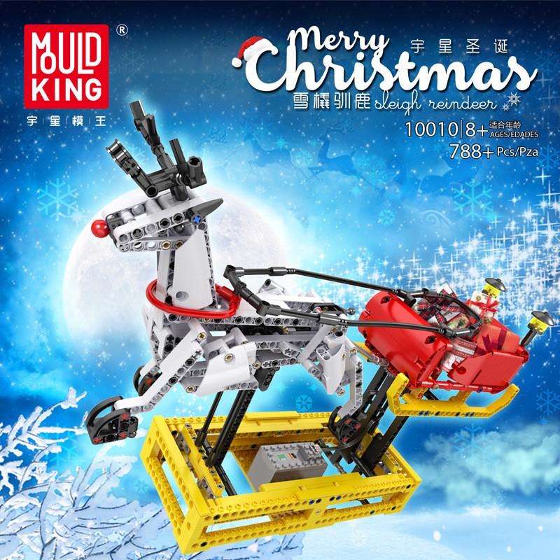 10010 MOULD KING Рождественские сани Санта-Клауса