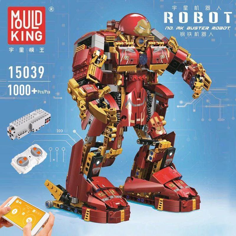 15039 MOULD KING Стальной робот