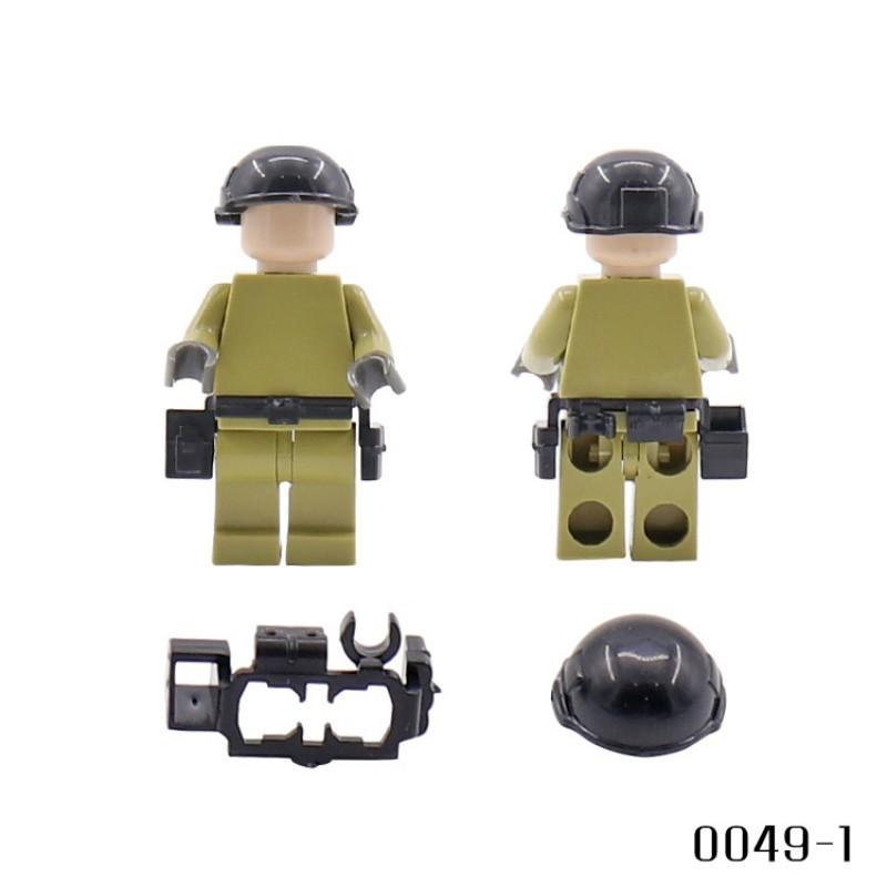 Набор из 3 видов шлемов и ремней-разгрузки - 45 штук